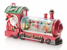 Christmas Water Spinner Train Red with Warm White Lights