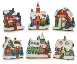 Christmas LED Village Scene Lit House 11cm