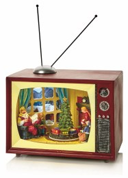 Christmas Village Scene LED TV Multi 24cm