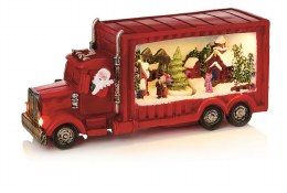Christmas Santa in Truck with Christmas Scene 34cm