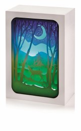 Diorama with Crescent Moon Scene 16x11cm - Battery Operated