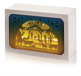 Diorama with Nativity Scene 16x11cm - Battery Operated