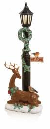 Christmas LED Lamppost Multi 45x17cm