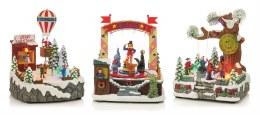 Christmas LED Fairground Scene 23cm
