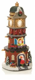 Christmas LED Animated Christmas Tower Scene 33.5cm