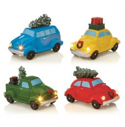 Christmas LED Miniature Car with tree 10cm - Battery Operated