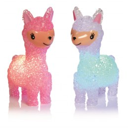 Christmas Llama with Colour Changing LED Lights Pink an White 14.5cm