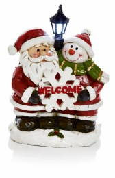 Christmas LED Santa & Snowman Welcome Lamp