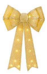 Christmas Champagne Gold Bow Battery Operated 50cm