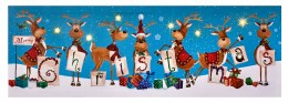 Christmas Canvas Reindeer Scene with Lights 30x90cm