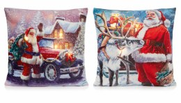 Christmas Cushion with LED Lights Santa 45x45cm Battery Operated