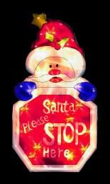 Santa Please Stop Here Silhouette 45cm x 24cm