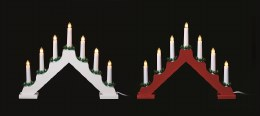 Christmas Wooden Candlebridge 7 Bulb Red or White Welcome Light