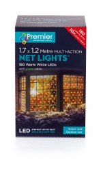 360 Warm White Multi- Action LED Netting Lights 1.7x1.2m