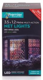 360 Multi Action Net Lights Cool White 3.5 x 1.2m
