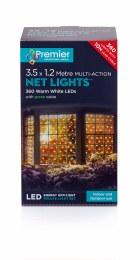 360 Multi Action Net Lights Warm White 3.5 x 1.2m