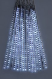 Snowing Icicle Shower Christmas Lights Cool White 15 Piece 70cm