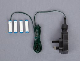 Battery Replacement Plug in Adapter 4 x AAA