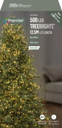 500 Premier Treebrights Christmas Lights Warm White 12.5m Cable with Timer