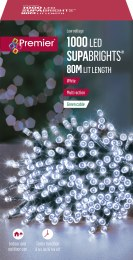 1000 Cool White Multi- Action Supabrights LED Christmas Lights 80m Cable with Timer
