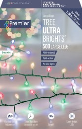 500 Ultrabrights TreeBrights Multi Colour Lights 10m