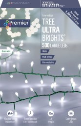 500 Ultrabrights TreeBrights Cool White Lights 10m