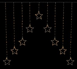 303 Warm White Star Curtain LED Christmas Lights 1.2x1.2m