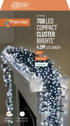 769 Ultrabrights Garland Compact Cluster Cool White LED Christmas Lights 4.5m Long