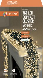 769 Ultrabrights Garland Compact Cluster Warm White LED Christmas Lights 4.5m Long