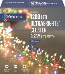 1200 Ultrabrights Cluster Lights Multi-Colour 8.25m