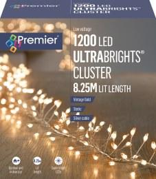 1200 Ultrabrights Cluster Lights Vintage White 8.25m