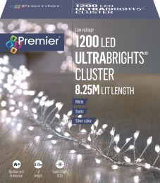 1200 Ultrabrights Cluster Lights Cool White 8.25m