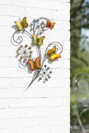 La Hacienda 3D Wall Butterflies and Flowers