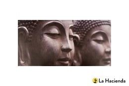 La Hacienda  Garden Canvas Buddha 59x113x4