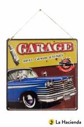 La Hacienda Embossed Steel Sign - Garage