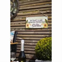 """La Hacienda Embossed Steel Sign """"I'm  Outdoorsy"""""""