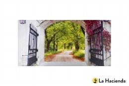 La Hacienda Garden Canvas Gateway 56x119cm
