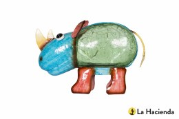 La Hacienda Solar Powered Rhino Garden Ornament - Rosie