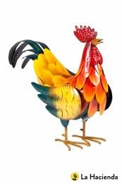 La Hacienda Steel Animal Crowing Rooster 29x35x12cm