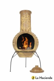 La Hacienda Chiminea Sun Mexican Clay Large