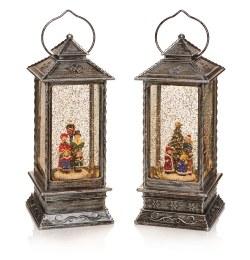Christmas Water Spinner Lantern with Choir 27cm