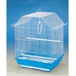 Lazy Bone Blue Bird Cage White Base 47x34.5x28cm