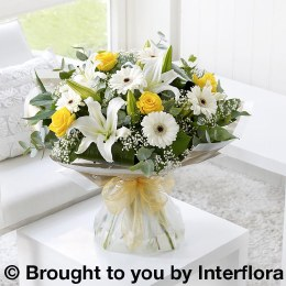 Lemon and White Sympathy Hand-Tied Large