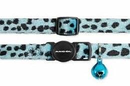 Leopard Cat Collar Turquoise
