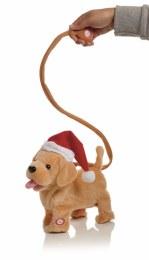 Christmas Plush Animated Dog with Lead