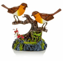 Birds on Branch with Sound Control Function 28cm
