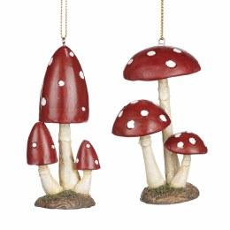 Christmas Decoration 3 Dotted Mushroom 3,5cm