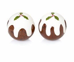 Christmas Pudding Salt & Pepper Set 6cm