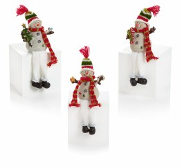 Ceramic Snowman with Dangly Legs 10cm