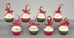 Christmas Bauble Family Jingle Bell with Ribbon